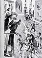1908-05-02, Blanco y Negro, El dos de mayo en Madrid, Escenas en la calle de Cuchilleros, Huertas (cropped).jpg