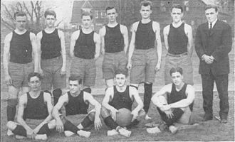 1910–11 Missouri Tigers men's basketball team - Image: 1910 11 Missouri Basketball Team