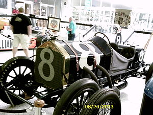 1912 Indianapolis 500 - The 1912 winning car, now located at the Indianapolis Motor Speedway Hall of Fame and Museum