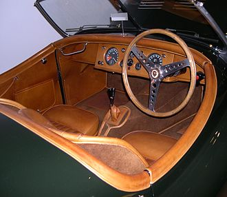 Jaguar XK120 - 1950 aluminium-bodied XK120 ex-Clemente Biondetti, has competition seats and aftermarket steering wheel; positions of tachometer and speedometer have been reversed