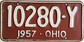 1957 Ohio license plate.JPG