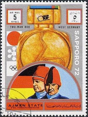 Wolfgang Zimmerer - Zimmerer and Utzschneider on a stamp of Ajman