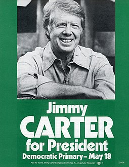 Campaign flyer from Democratic Party presidential primary 1976 Presidential campaign flyer.jpg