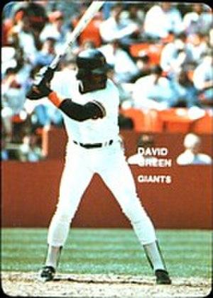 1985 San Francisco Giants season - Image: 1985 Mother's Cookies David Green