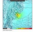 1995 Tauramena earthquake ShakeMap.jpg