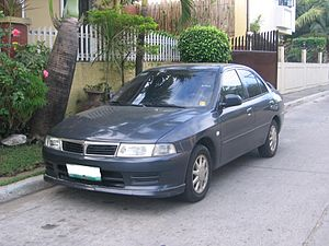 English: 2000-2002 Mitsubishi Lancer sedan pho...
