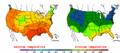 2002-09-13 Color Max-min Temperature Map NOAA.png