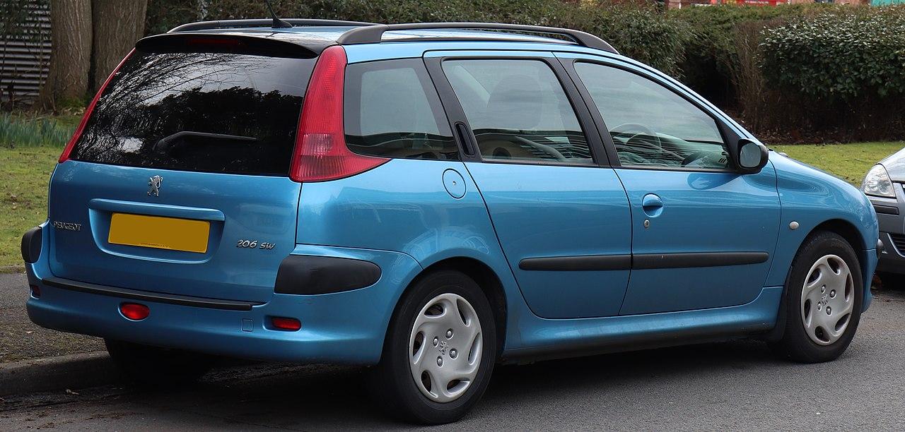 Fichier 2002 Peugeot 206 Sw Hdi Xt 2 0 Rear Jpg  U2014 Wikip U00e9dia