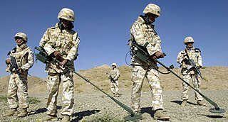 Demining Process of removing land mines