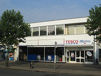 Tesco - The first self-service Tesco shop in St Albans, Hertfordshire. The shop has since relocated.