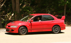 2005 Mitsubishi Lancer Evolution VIII MR (US Spec) at Deal's Gap, North Carolina
