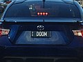 2007 Queensland registration plate DOOM vanity on Toyota 86.jpg
