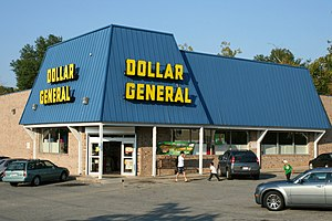 English: Dollar General variety shop at 800 Br...