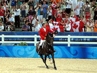 Canada at the 2008 Summer Olympics - Gold-medal winners Eric Lamaze and Hickstead at the 2008 Olympics