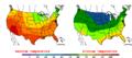 2009-08-30 Color Max-min Temperature Map NOAA.png