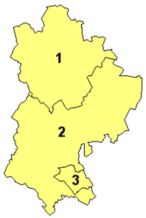 2009 structural changes to local government in England - Image: 2009 Bedfordshire Ceremonial Numbered