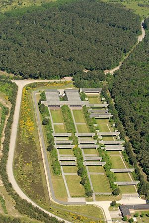 Shooting range - Aerial view of a shooting range in Cuxhaven-Altenbruch, Germany (2012)