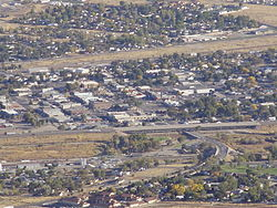 Downtown Winnemucca viewed from Winnemucca Mountain