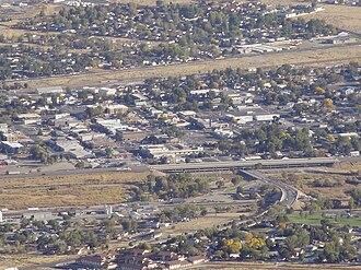 Winnemucca, Nevada - Downtown Winnemucca viewed from Winnemucca Mountain