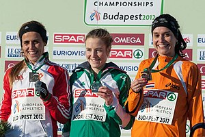 2012 European Cross Country Championships - The Women's podium