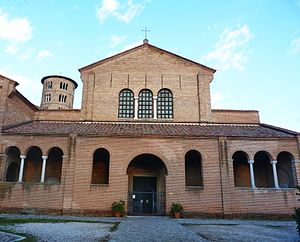 Basilica of Sant'Apollinare in Classe - The west front or façade.