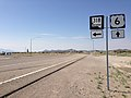 2014-07-17 09 20 12 View west along U.S. Route 6 about 14.0 miles east of the Nye County Line at the junction with Nevada State Route 318 in Lund Junction, Nevada.JPG