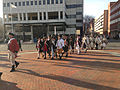 2014-12-27 14 46 57 Reenactors marching down South Broad Street (U.S. Route 206 northbound) into Mill Hill Park during a reenactment of the Second Battle of Trenton in Trenton, New Jersey.JPG