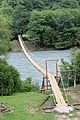 2014 Droga w kierunku jeziora Rica, Most wiszący na rzece Bzyp (01).jpg