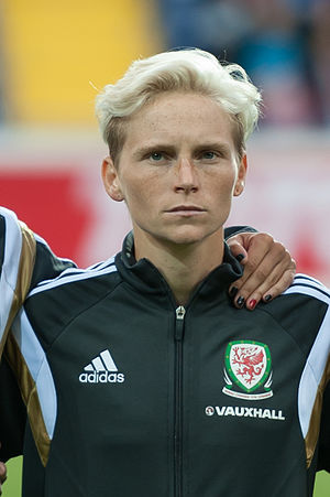 Jess Fishlock - Fishlock with Wales in 2015