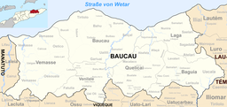 Location of Baucau municipality
