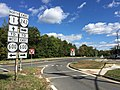2016-10-22 14 09 39 View east along Virginia State Route 242 (Gunston Road) at U.S. Route 1 (Richmond Highway) in Lorton, Fairfax County, Virginia.jpg
