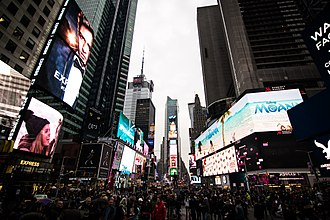 Pace (speed) - Image: 2016 11 Times square at twilight 02