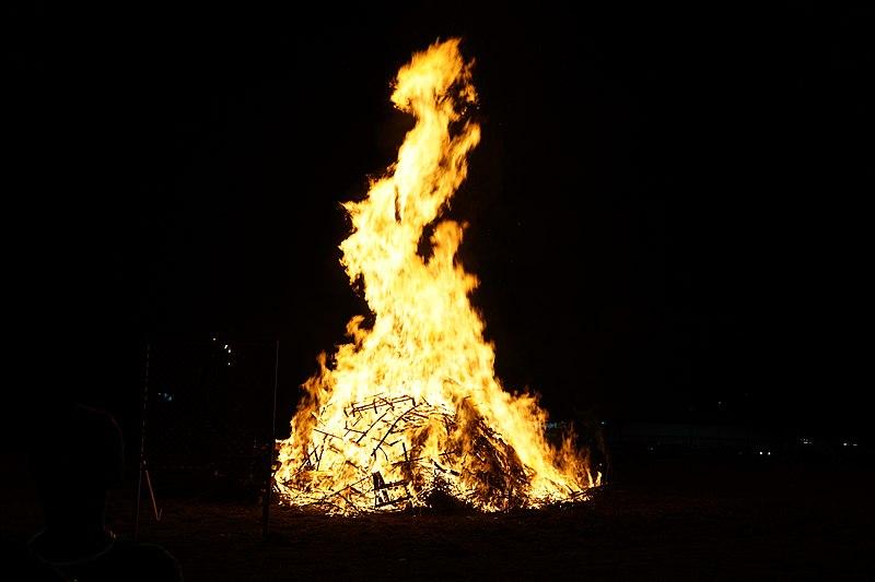 File:2016 A&M–Commerce Homecoming Bonfire & Fireworks Celebration 03 (bonfire).jpg