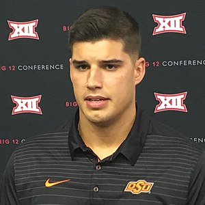 Mason Rudolph (American football) - Rudolph at 2017 Big 12 Media Days