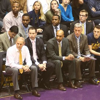 2016–17 Michigan Wolverines men's basketball team - (first row: left to right) John Beilein, Billy Donlon, Saddi Washington and Jeff Meyer (second row: includes Chris Hunter 2nd from the left).