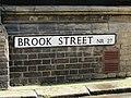 2018-04-01 Street name sign, Brook street, Cromer.JPG