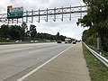 2018-10-11 12 13 07 View west along Interstate 66 at the exit for Monument Drive in Fair Oaks, Fairfax County, Virginia.jpg