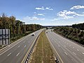 2018-10-30 12 51 39 View south along Virginia State Route 286 (Fairfax County Parkway) from the overpass for Virginia State Route 638 (Rolling Road) in Newington, Fairfax County, Virginia.jpg