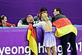 2018 Winter Olympics - Aliona Savchenko & Bruno Massot - Flower Ceremony - 1.jpg