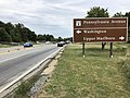 2019-09-09 15 05 26 View east along the Suitland Parkway just west of Maryland State Route 4 (Pennsylvania Avenue) on the edge of Andrews Air Force Base and Westphalia in Prince George's County, Maryland.jpg