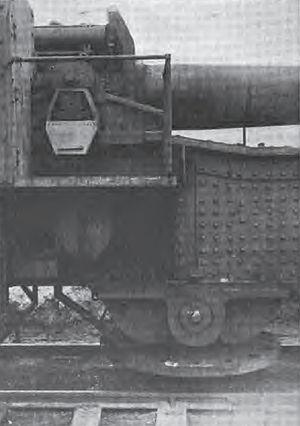 "21 cm SK ""Peter Adalbert"" - Close up of the pintle under a ""Peter Adalbert"" E. u. B. mount"