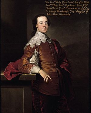 "Royal Society - Lord Hardwicke, leader of the ""Hardwicke Circle"" that dominated society politics during the 1750s and '60s"