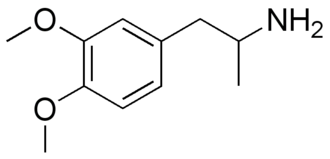 Dimethoxyamphetamine - 3,4-DMA, or 3,4-dimethoxy-amphetamine