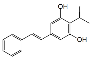 3,5-Dihydroxy-4-isopropyl-trans-stilbene - Image: 3,5 Dihydroxy 4 isopropyl trans stilbene