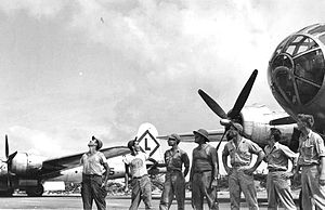 331st Air Expeditionary Group - 331st Bomb Group B-29s and ground crew, Northwest Field, Guam, 1945
