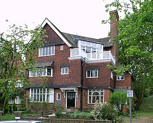 Studio House (1885) designed by Richard Norman...