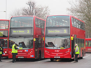 London Buses route 3 - Abellio London Alexander Dennis Enviro400s at Crystal Palace in April 2014