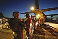 3 Scots Board Hercules Aircraft at Kandahar MOD 45150411.jpg