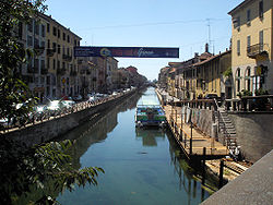 The Naviglio Grande canal near the Darsena