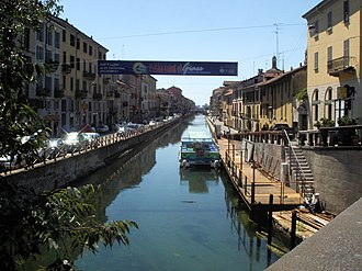 Porta Genova - The Naviglio Grande canal near the Darsena